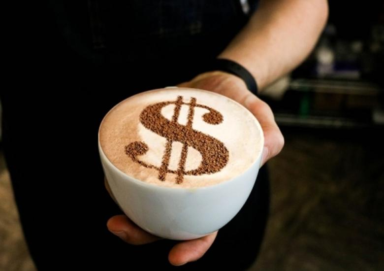 latte dollar, profit, revenue,